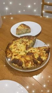 Salmon and Mixed Peas Quiche