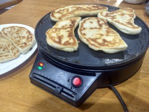 Roti Naan on Crepe Maker