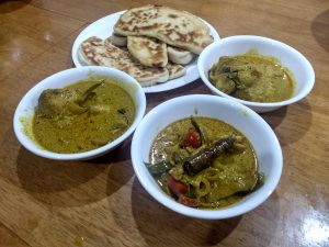 Roti Naan and Chicken Curry